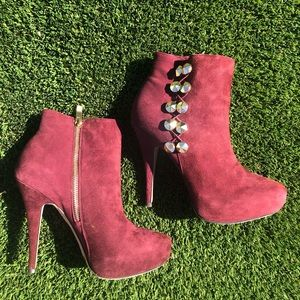 Vince Camuto Ruby True Suede Ankle Booties